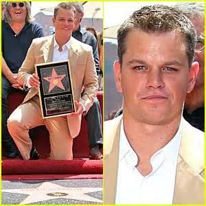 Matt Damon Gets His Walk Of Fame by Matt Damon Gets Walk Of Fame Luciana Damon Matt