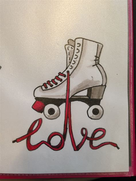 roller skate tattoo skates drawing made by da linci