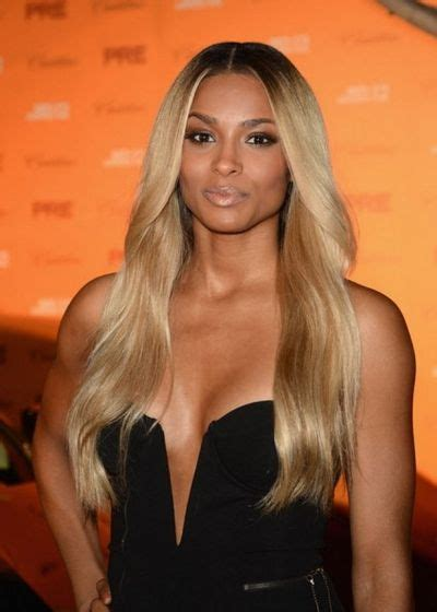 blonde hairstyles middle parting ciara middle part ombre roots blonde hair for me