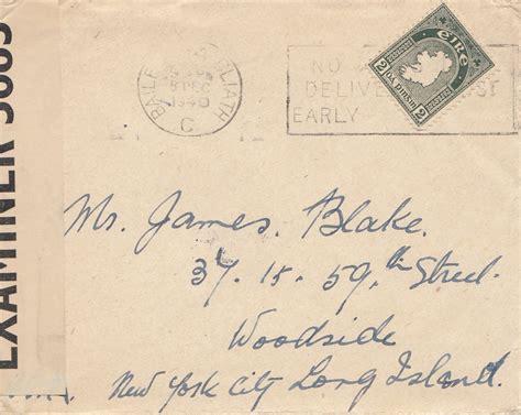 Brief Schweiz Nach Usa irland 1940 brief nach usa censor 183 philarena