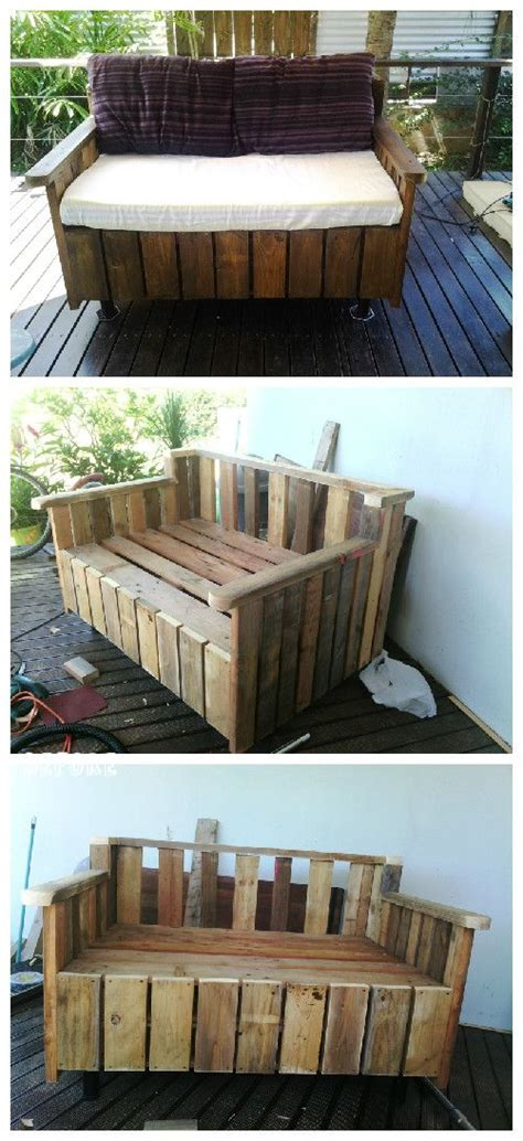 outdoor sofa made from pallets pallet outdoor sofa pallet ideas terrace diy and