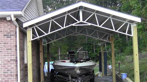 Boat Carports steel trusses boat covers and carports