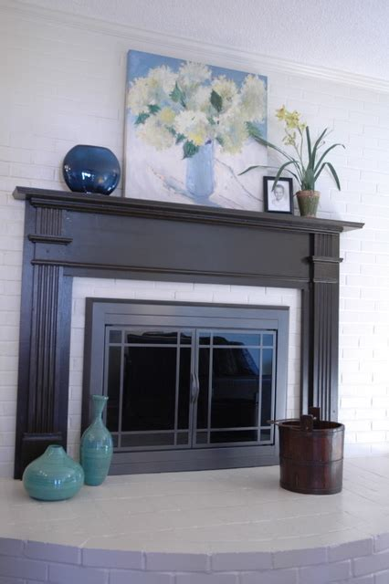 painted fireplace mantels fireplace lift the decorologist
