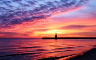 Landscape Sunset Landscape Sea Sunset Coast Water Sky