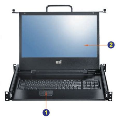 Rack Mount Laptop Drawer by 1u 17 Quot Rackmount Wide Screen Lcd Keyboard Drawer With