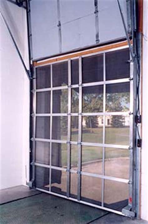 Overhead Screen Doors overhead loading dock screen door industrial dock door