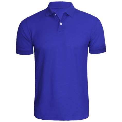 44878 Blue Classic Stripe S M L Top Le0111117 Import new mens sleeve plain polo tshirt top golf shirt