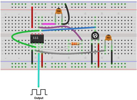 breadboard circuit explanation how to build a voltage controlled oscillator vco with a 555 timer chip
