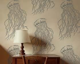 Home Decor Wall Stencils Large Jellyfish Wall Stencil Reusable Easy Diy Home Decor Design Oliveleafstencils