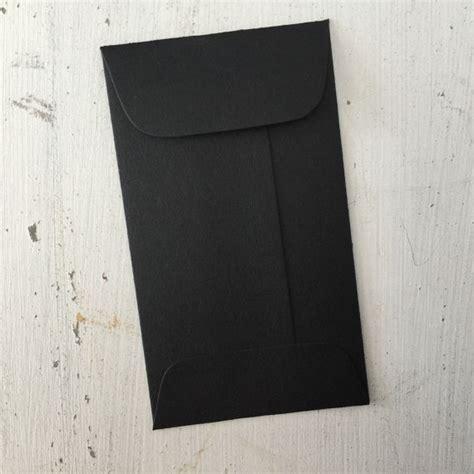 Coin Gift Card - 1000 black mini envelopes with flap coin gift card envelope escort card holder