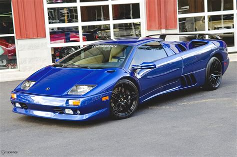 Blue Lamborghini Diablo Blue Flake Metallic Lamborghini Diablo Roadster For Sale