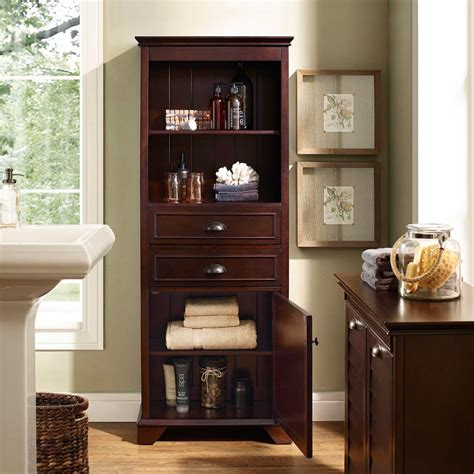 brown bathroom cabinets bathroom ideas brown plyywood veneered tall narrow