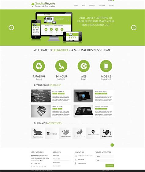 wesite templates psd corporate business website template free