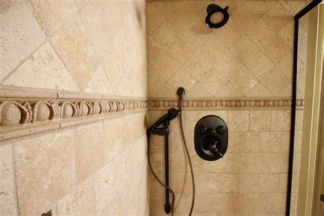 travertine listello border tiles tile design ideas