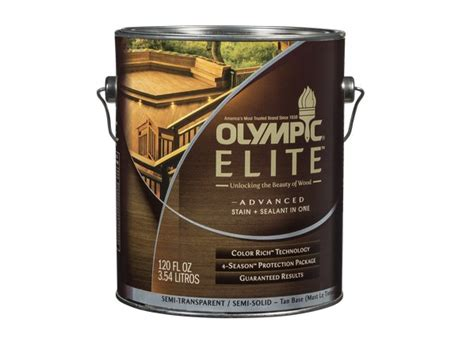 olympic elite advanced stain sealant   semi