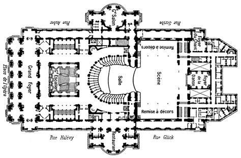 opera house floor plan paris opera house plan house design plans