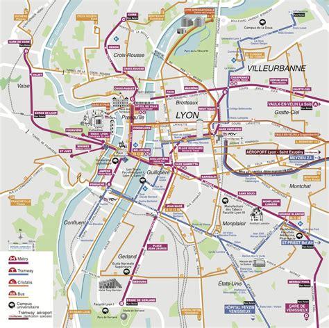 lyon on a map lyon tourist transit map maplets