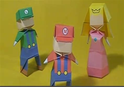 How To Make Origami Mario - how to make your own mario origami figures gearfuse