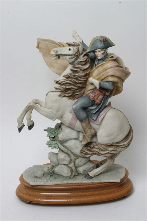 Humm3r Napoleon Original a capodimonte figure of napoleon on horseback signed redaelli