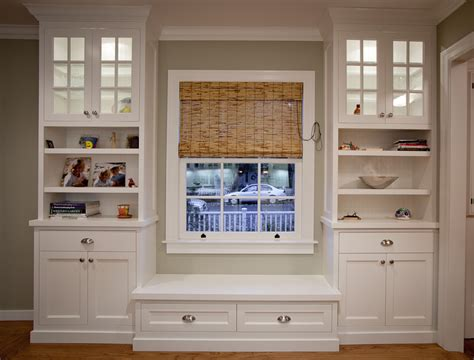 window seat bookshelf griffin custom cabinets