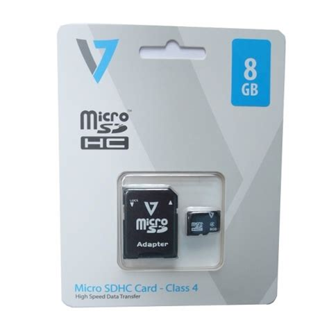 V Sdhc 8gb v7 8gb micro sdhc memory card j152270