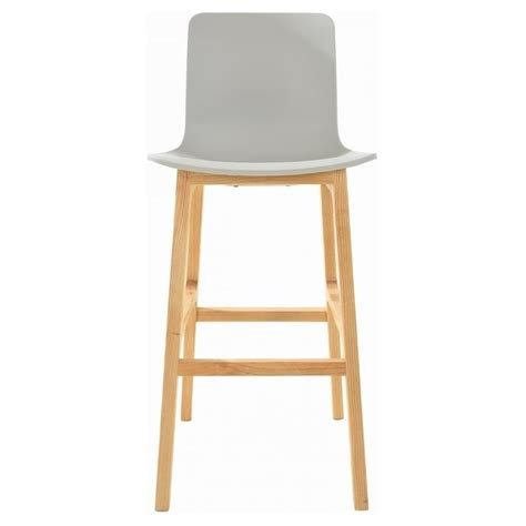 light grey bar stools buy grey and light wood contemporary bar stool from fusion