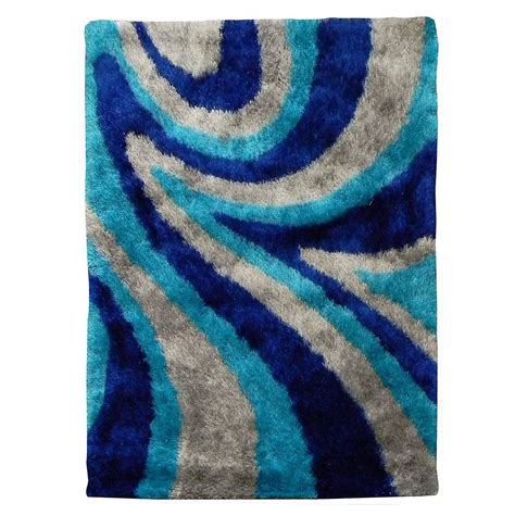 Wave Area Rug Donnieann 3d Shaggy Abstract Wave Design Purple 5 Ft X 7 Ft Indoor Area Rug D800pp The Home