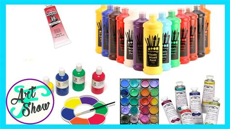 different types of paints for beginners fatemas art
