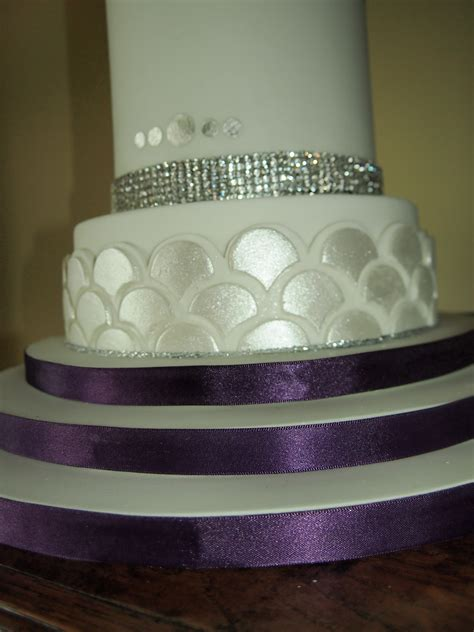 3 Tier Wedding Cake by Gatsby Inspired 3 Tier Wedding Cake Cakecentral