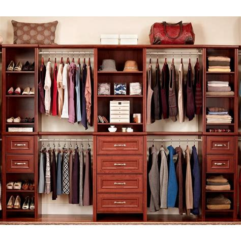 closetmaid kit home depot closetmaid impressions 25 in dark cherry deluxe hutch