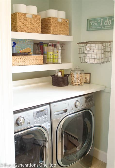 Fold Shelf For Laundry Room by 13 Hacks To Calm The Craze In Your Laundry Room