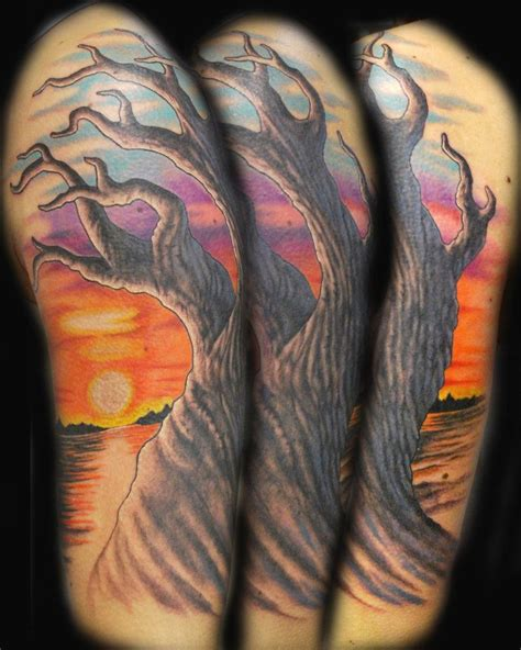 sunset tattoo sunset designs sunset tree by joshing88