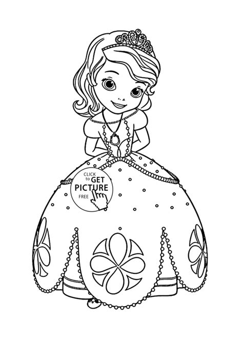 Princess Sofia Coloring Page For Kids Disney For Girls Princess Sofia Drawing Free Coloring Sheets