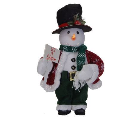 animated fibre optic snowman fiber optic 18 quot animated snowman by sterling qvc