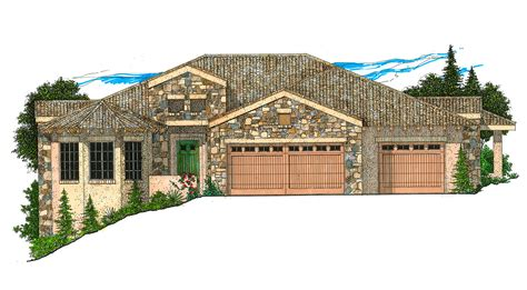 Sloping Hill House Plans Hill Country Home For Sloping Lot 12505rs Architectural Designs House Plans