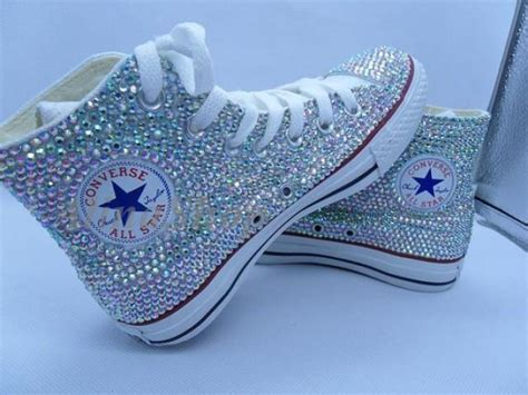 Wedding Shoes With Bling by Ab Bling Wedding Converse Shoes Rhinestone Sparkle Bridal