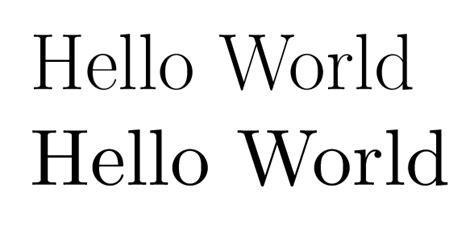 latex tutorial hello world fontsize font in harvmac title tex latex stack exchange