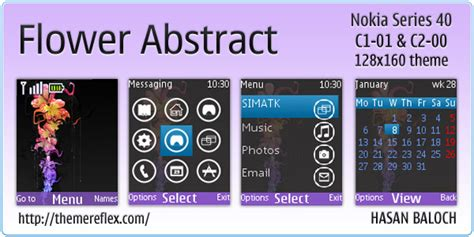 themes for mobile c1 01 flower abstract theme for nokia c1 01 c2 00 themereflex