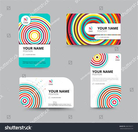 luxury circle business cards elegant business cards