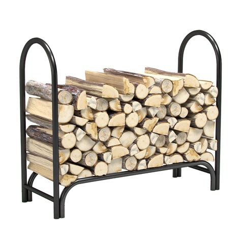 Outdoor Wood Rack by 4 Foot Heavy Duty Firewood Log Rack Outdoor Firewood Holder In Black