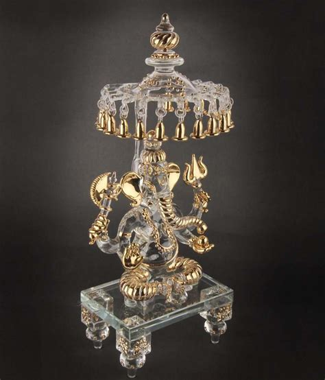 Snapdeal Home Decor by Sutra Decor God Idols Lord Ganesha With Chatra Crystal