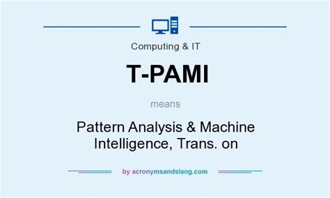 pattern analysis military intelligence t pami pattern analysis machine intelligence trans