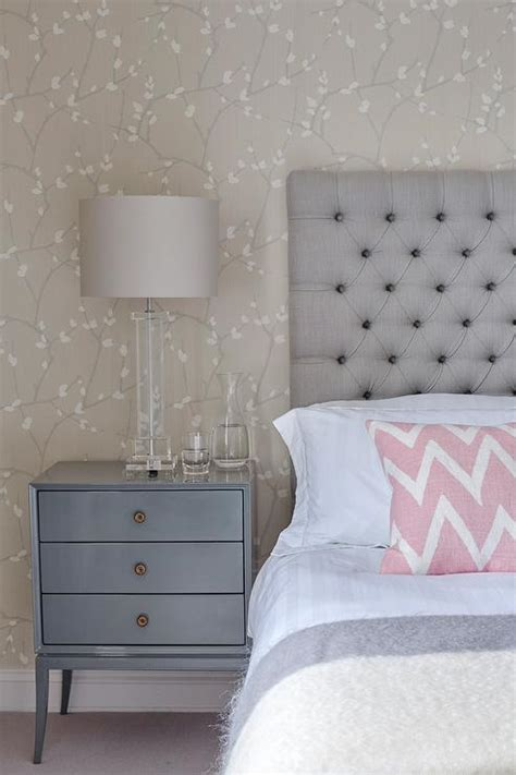 grey blue bedroom gray and blue bedroom with pink accents transitional