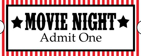 printable movie night tickets sweet daisy designs free printables home movie theatre night