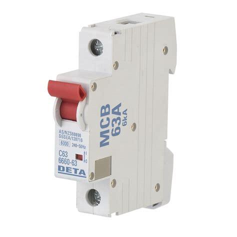 Miniature Circuit Breaker deta 63 miniature circuit breaker bunnings warehouse