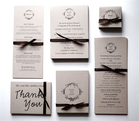 wedding invitations sets create own cheap wedding invitation kits ideas