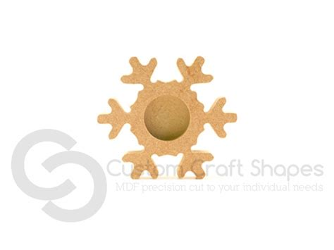 snowflake tea light holders mdf snowflake tea light holder 18mm