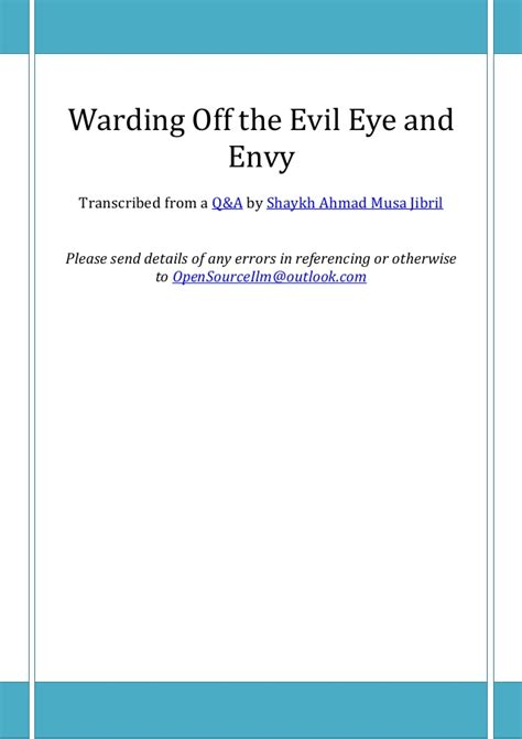 define ward off warding off the evil eye and envy