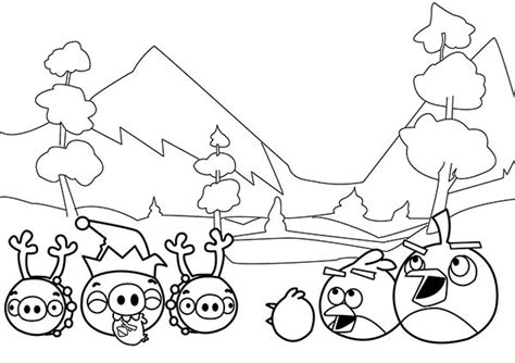 angry birds coloring pages christmas angry birds christmas coloring pages festival collections