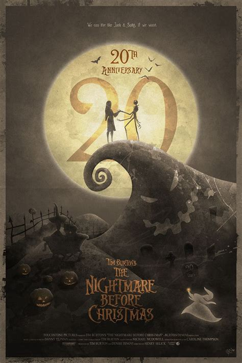 nightmare before christmas alternate posters popcorn horror